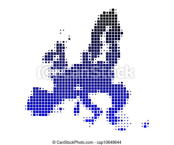 Map of European Union - csp10649644