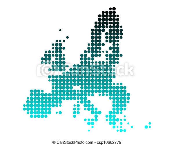 Map of European Union - csp10662779