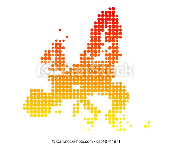 Map of European Union - csp10744971