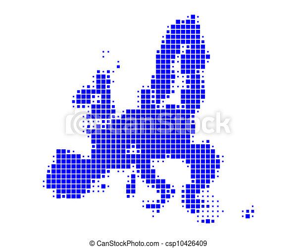 Map of European Union - csp10426409