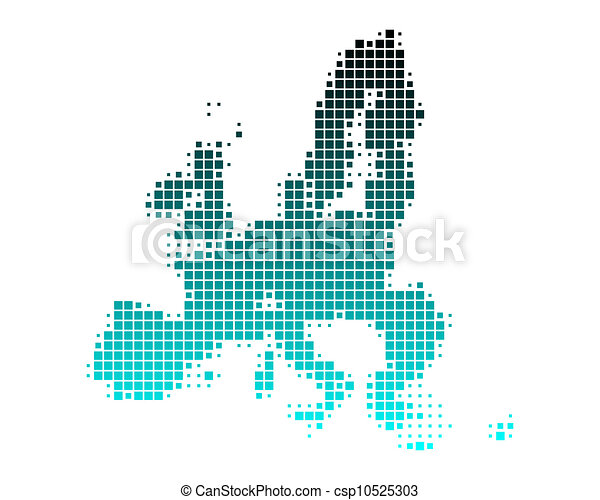 Map of European Union - csp10525303