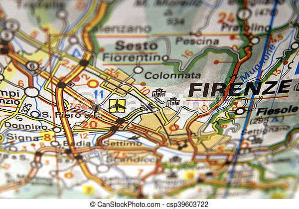 Map of Firenze in Italy - csp39603722