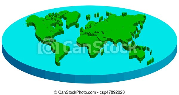 Map Of Flat Earth Vector Concept Flat Earth Map Of Flat 3d Earth