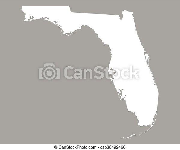 Map of Florida - csp38492466