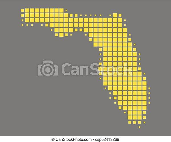 Map of Florida - csp52413269