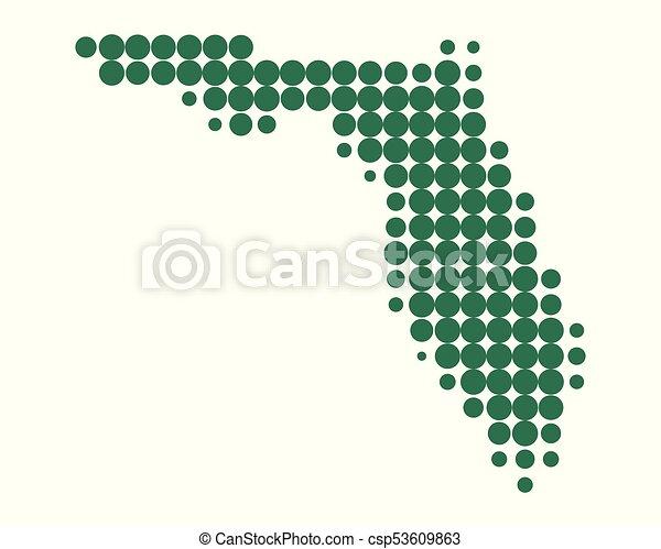 Map of Florida - csp53609863