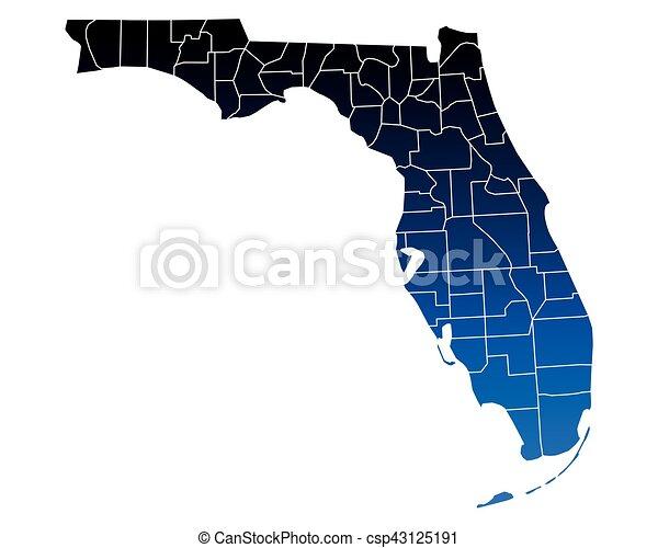 Map of Florida - csp43125191