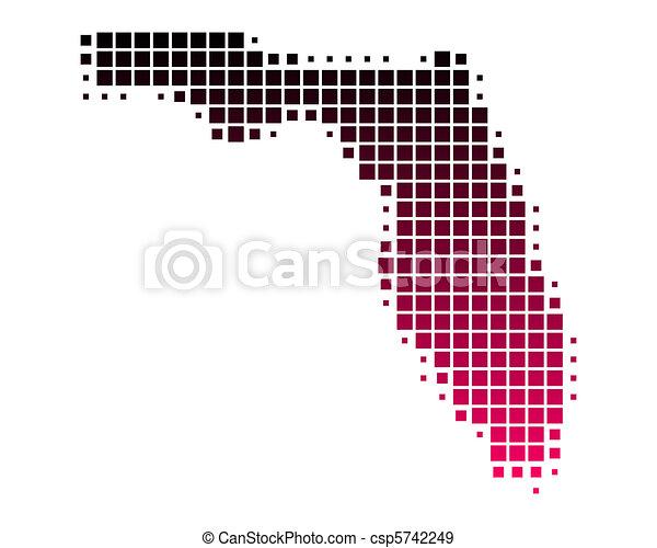 Map of Florida - csp5742249