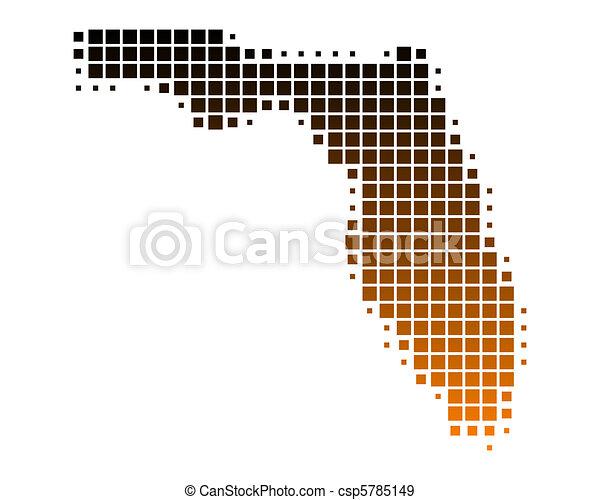 Map of Florida - csp5785149