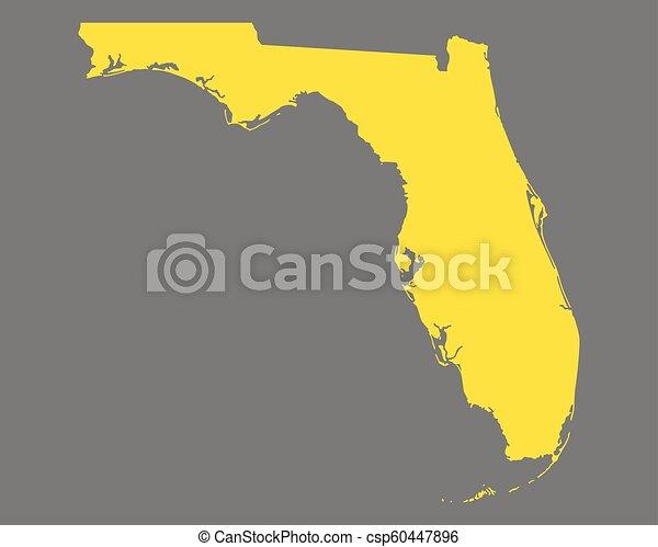 Map of Florida - csp60447896
