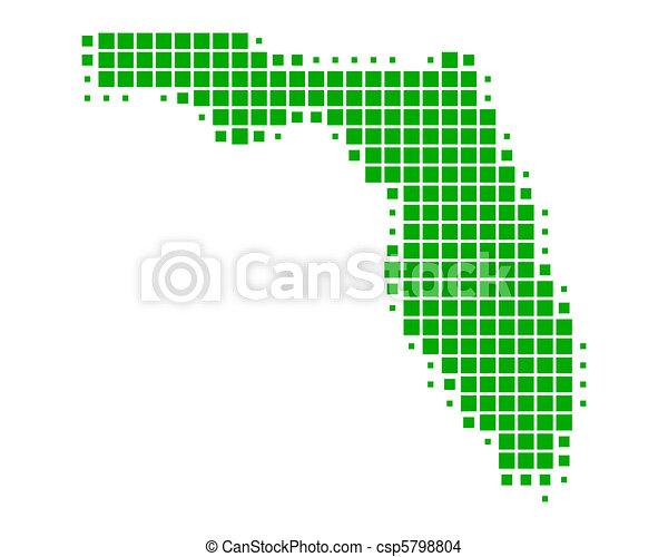 Map of Florida - csp5798804