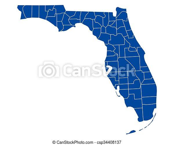 Map of Florida - csp34408137