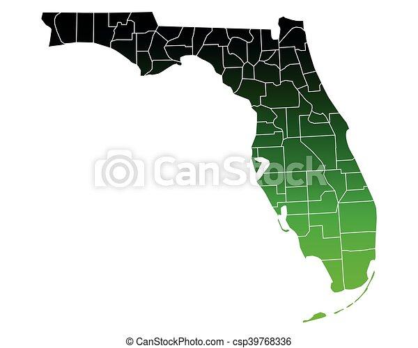 Map of Florida - csp39768336