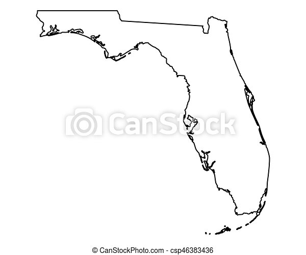 Map of Florida - csp46383436