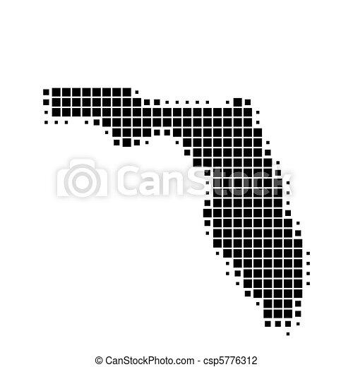 Map of Florida - csp5776312