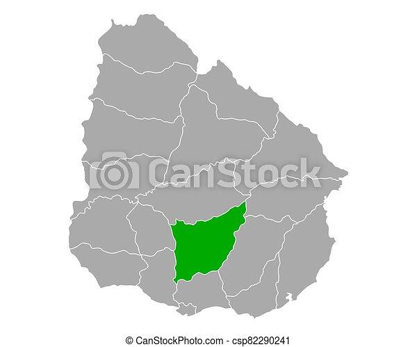 Map of Florida in Uruguay - csp82290241