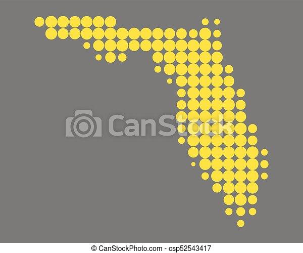Map of Florida - csp52543417