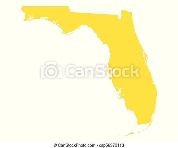 Map of Florida - csp56372113
