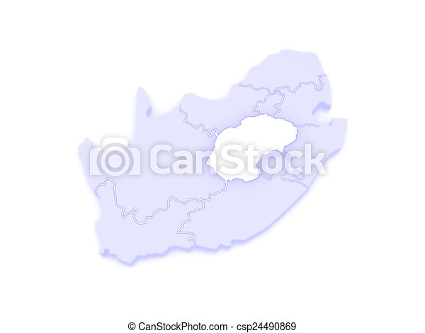 Bloemfontein South Africa Map.Map Of Free State Bloemfontein South Africa