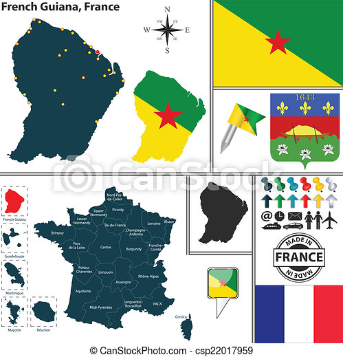 Map Of France With States.Map Of French Guiana France