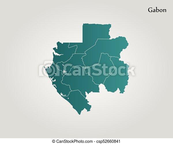 Gabon World Map.Map Of Gabon Vector Illustration World Map