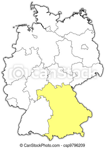 Map Of Germany Bavaria.Map Of Germany Bavaria Highlighted Political Map Of Germany With