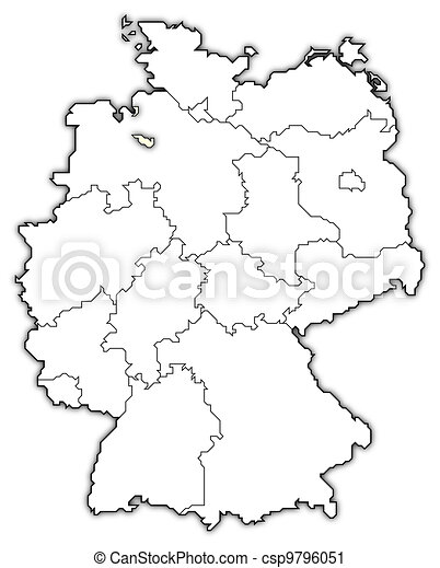 Map Of Germany Bremen Highlighted Political Map Of Germany With