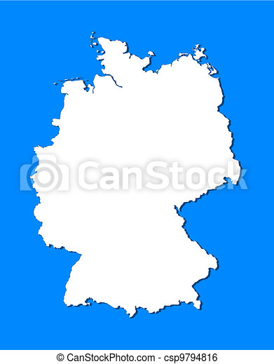 Map of germany. Political map of germany with the several states.