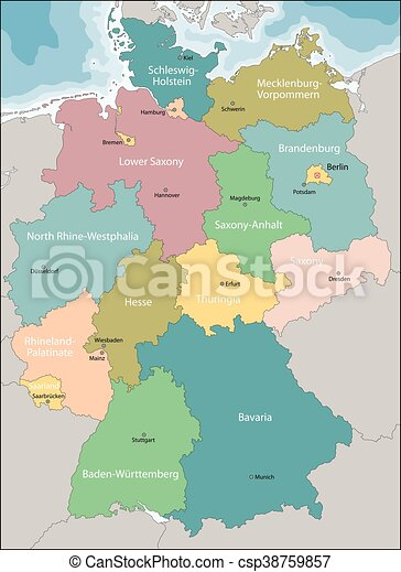 map of germany csp38759857