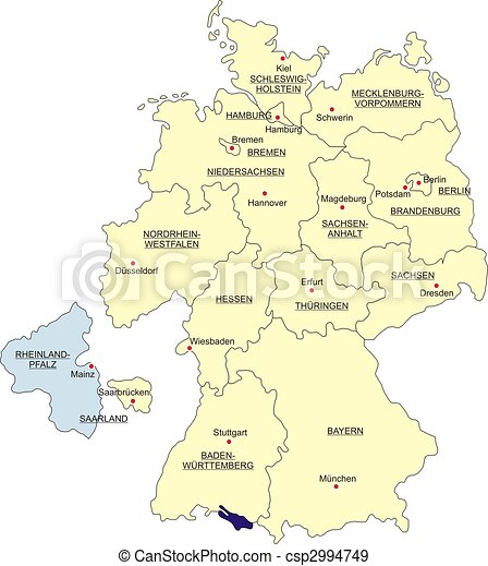 Map Of Germany Rhineland.Map Of Germany