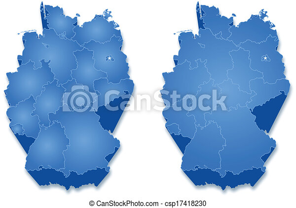 Map of germany. Political map of germany with all states.