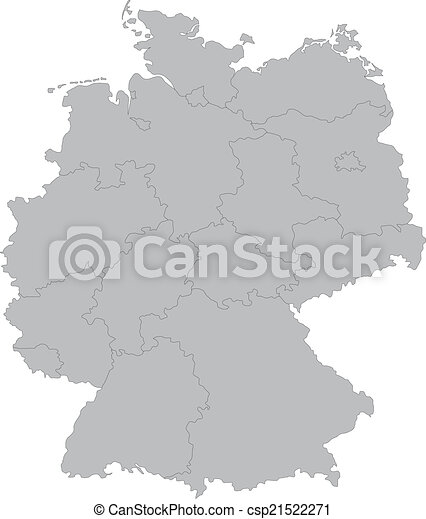 Simple Map Of Germany.Map Of Germany