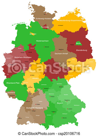 map of germany csp20106716