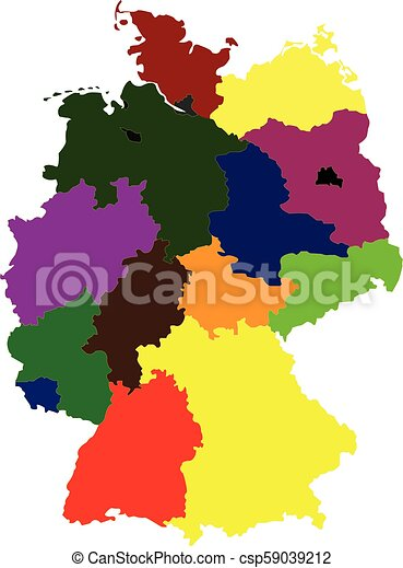 Map Of Germany Regions.Map Of Germany