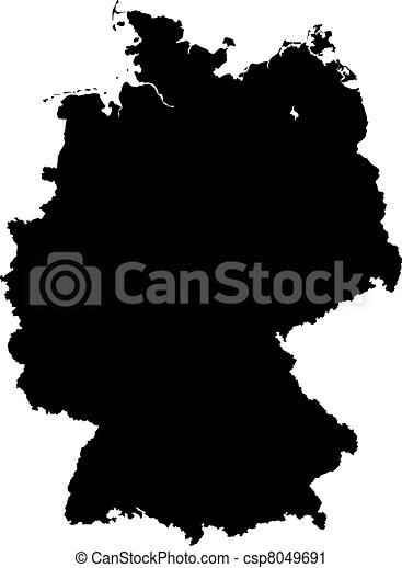 Vector Clip Art Of Map Of Germany A Highly Detailed Map Of - Germany map eps