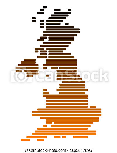 Map of Great Britain - csp5817895