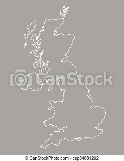 Map of Great Britain - csp34681292