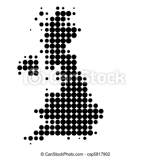 Map of Great Britain - csp5817902