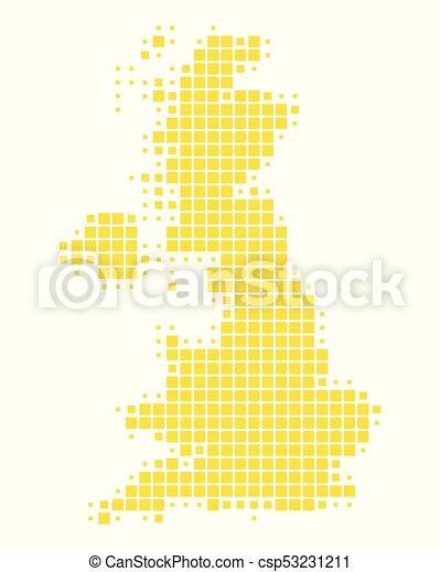 Map of Great Britain - csp53231211