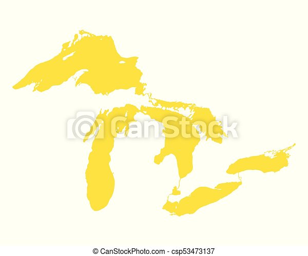map of great lakes