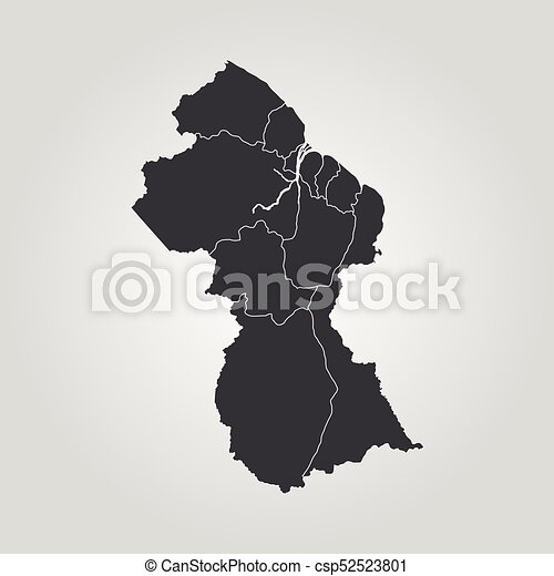 Map Of Guyana Vector Illustration World Map