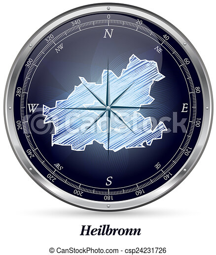 Map of heilbronn with borders in chrome clip art Search