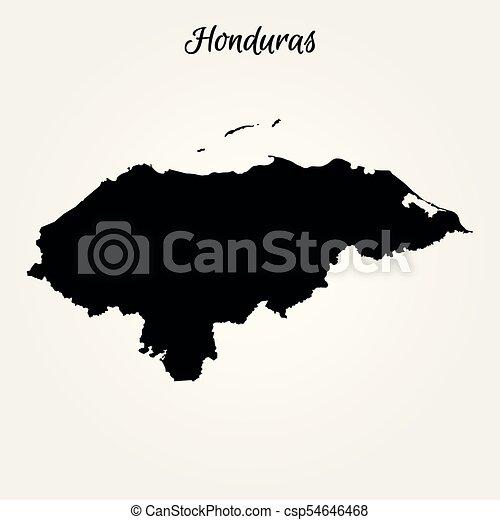 Map of honduras. vector illustration. world map.