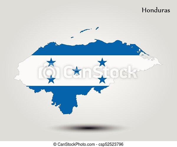 Map Of Honduras Vector Illustration World Map
