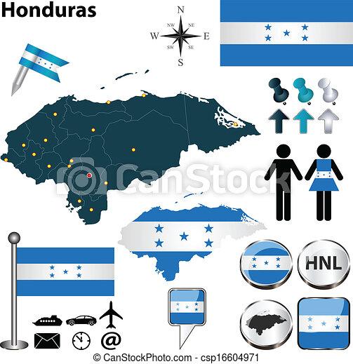 Map of Honduras - csp16604971