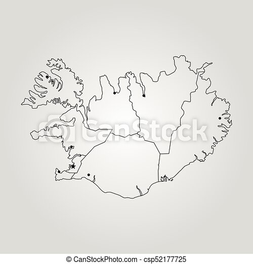 Map of iceland vector illustration world map vector illustration map of iceland csp52177725 gumiabroncs Image collections