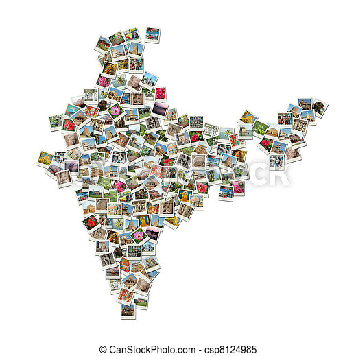Map of india collage made of travel photos stock images search map of india collage made of travel photos gumiabroncs Gallery
