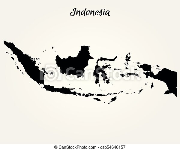 Map of indonesia vector illustration world map clipart vector map of indonesia csp54646157 gumiabroncs Images