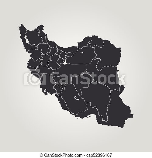 Map of iran vector illustration world map map of iran csp52396167 gumiabroncs Images