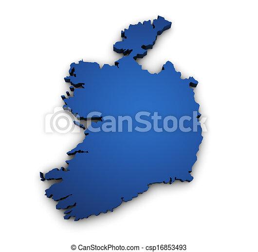 Map Of Ireland 3d.Map Of Ireland 3d Shape